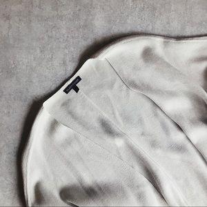 Eileen Fisher Silk Light Gray/Beige Knit Cardigan